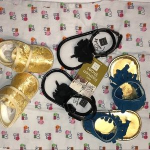 Other - 3 pair newborn baby girl shoes